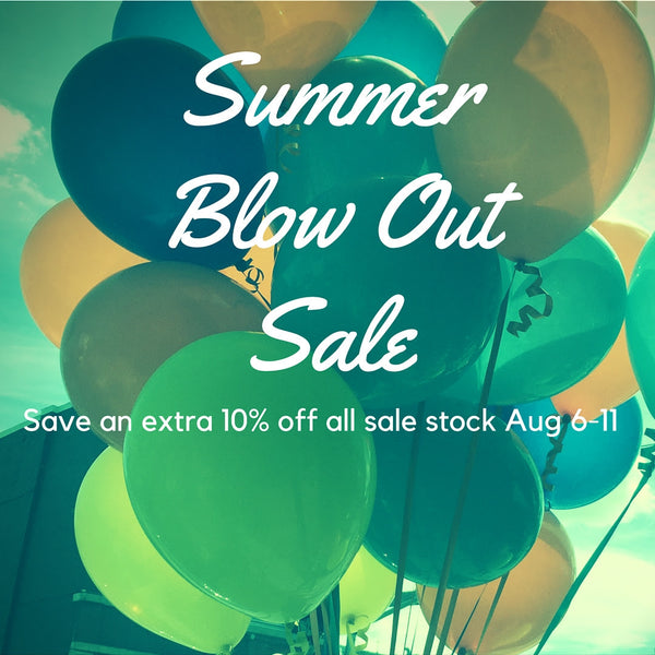 It's a Workshop and Flock Blowout Sale, August 6 to 11!