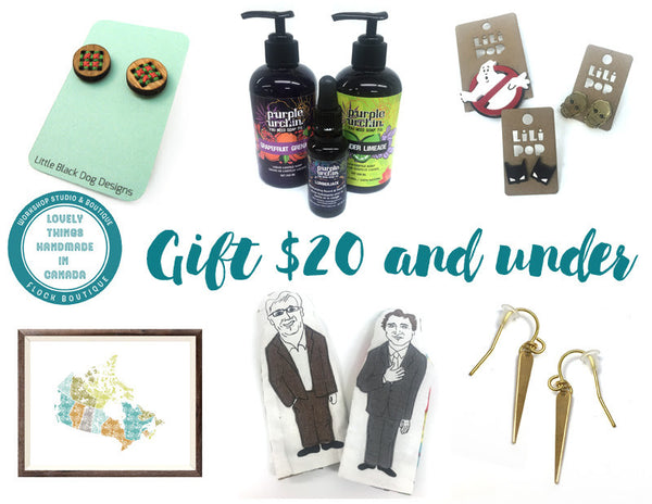 Locally crafted & lovingly made gifts $20 and under!