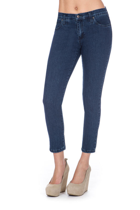 SWP1305 High Rise Ankle Second Denim Yoga Jeans in Classic Blue. The perfect jeans sizes 24-34