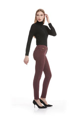Second Denim Yoga Jeans Classic Rise Skinny in Cerise available in sizes 24-34 1711CO-R30 side view