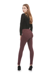 Second Denim Yoga Jeans Classic Rise Skinny in Cerise available in sizes 24-34 1711CO-R30 back view