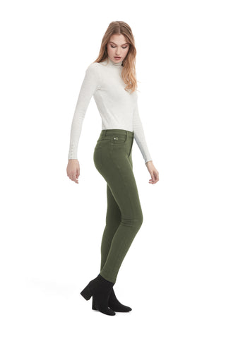 Second Denim Yoga Jeans Classic Rise Skinny in Kiwi available in sizes 24-34 1711CO-R30  sideview