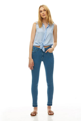 Classic Rise Ankle Skinny - Maine