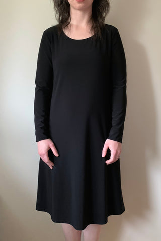 COMPLI K Black Knit Dress 30235Y FW2020/2021 (front view)
