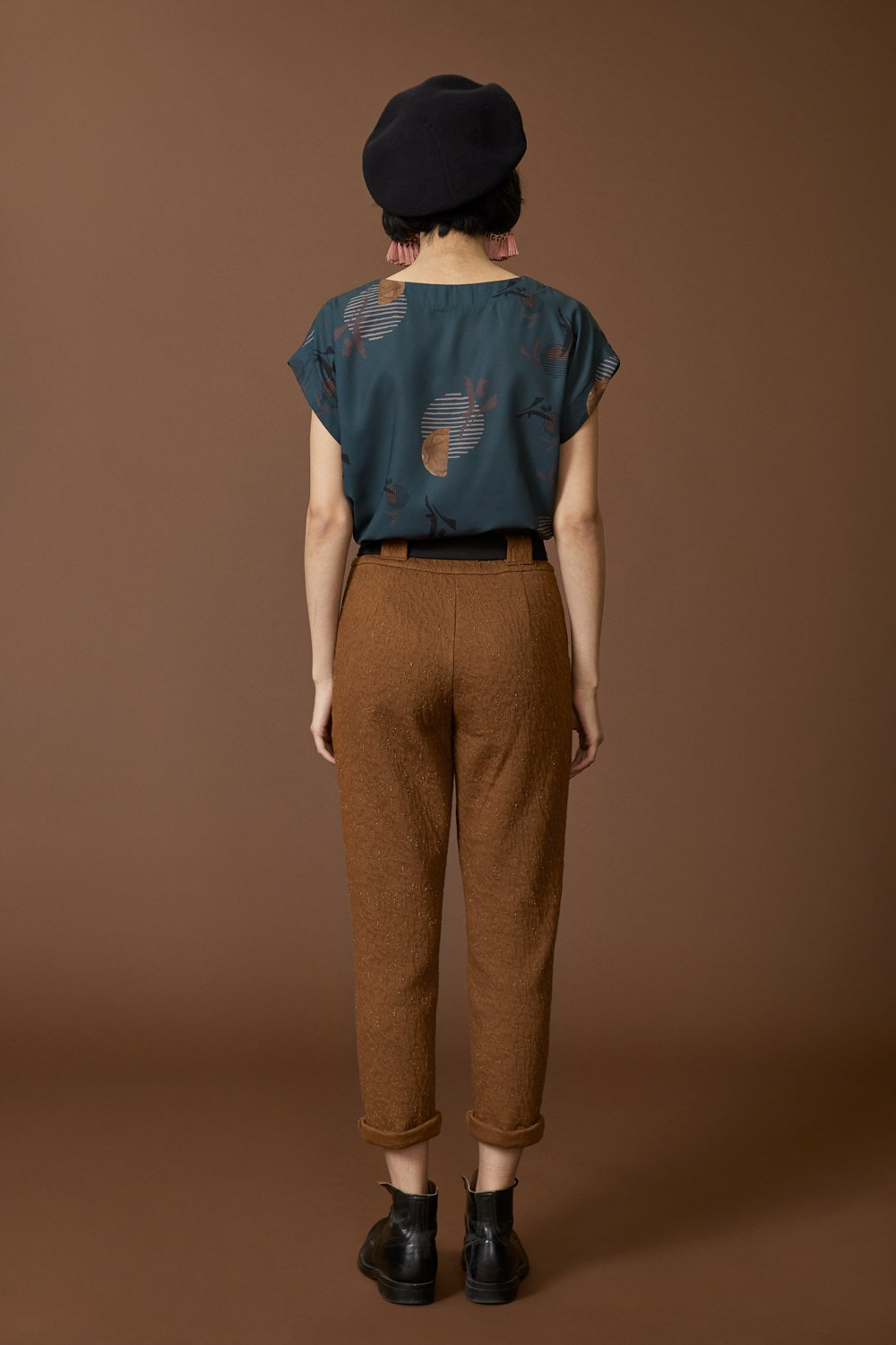 COKLUCH Autel Pants in Cinnamon Crinkle (back view) FW2020/2021