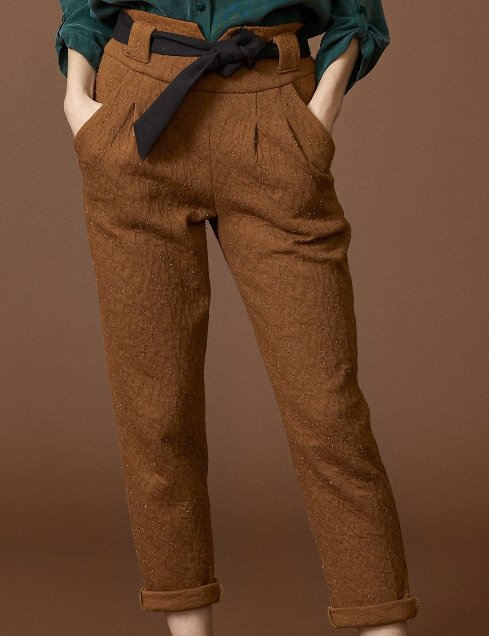 COKLUCH Autel Pants in Cinnamon Crinkle (detailed view) FW2020/2021