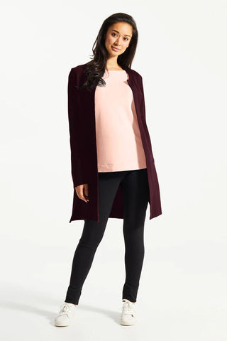 Juniper Berry Aly Blazer, Front View, Fig Clothing, Fall/Winter 2020/2021, Sizes XS-XL.