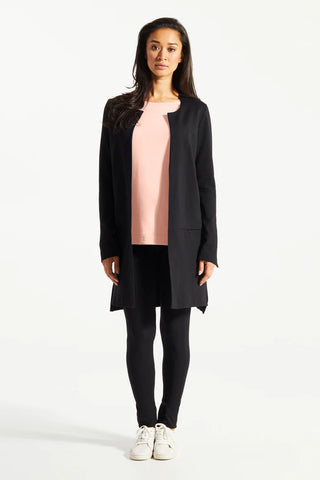 Black Aly Blazer, Front View, Fig Clothing, Fall/Winter 2020/2021, Sizes XS-XL.