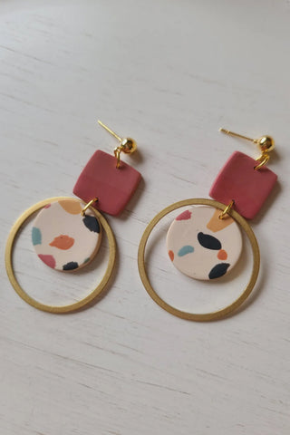 Anna Terrazzo Hoop Earrings