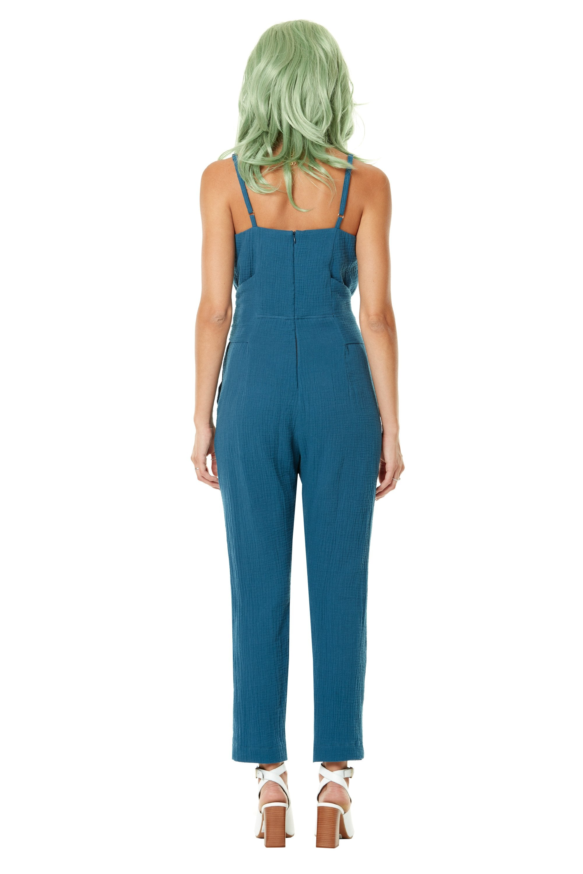 Polly Waffles Jumpsuit by Annie 50, back view, colour not available