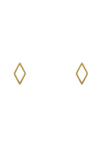 Diamond-Shaped Stud Earrings