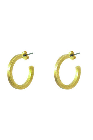 Raw Texture Hoop Earrings