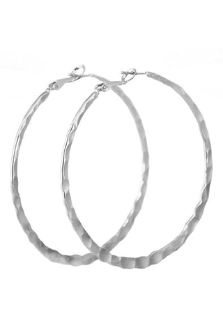 Large Textured Hoop Earrings
