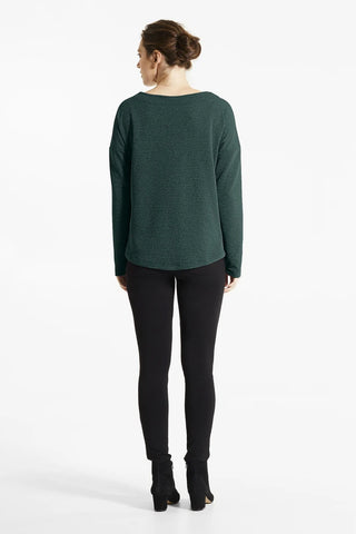 Forest Green Bai Top, Back view, FIG Fall/Winter 2020/2021, Sizes XS - XL