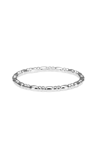 Georgian Bead Stacking Ring • Sterling Silver