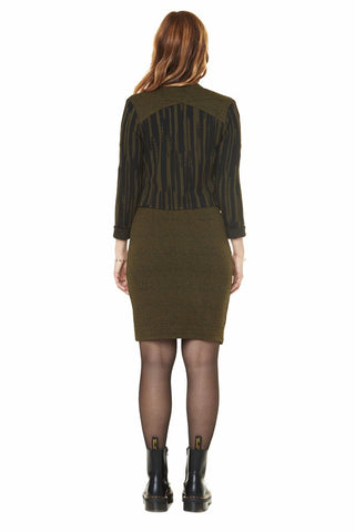 ANNIE 50 Berenice Top in Green and Black FW2020/2021 (rear view)