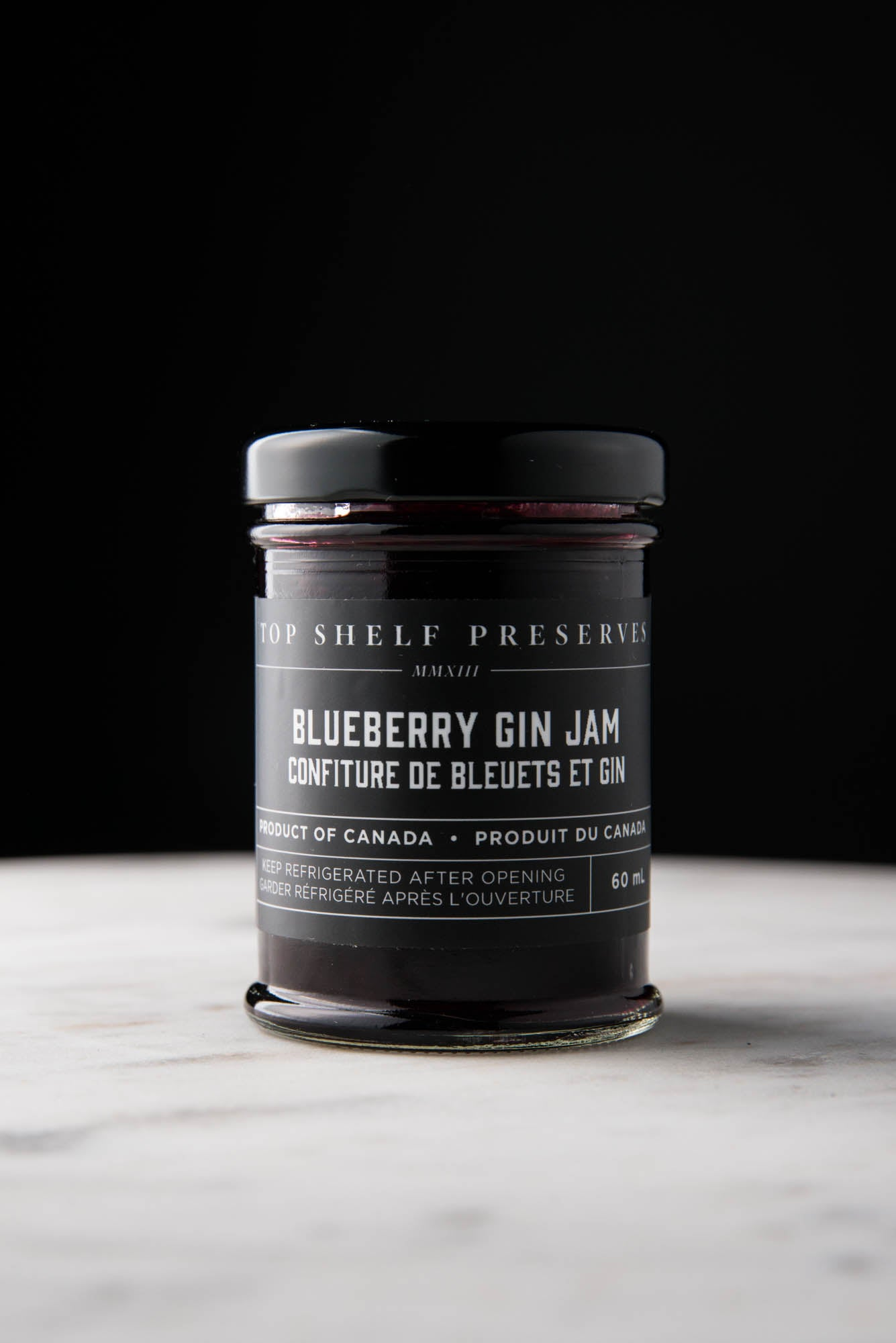 Blueberry Gin Jam - available only for curbside or in store pick up