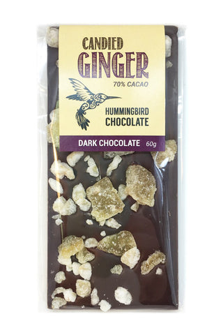 Candied Ginger Chocolate Bar