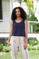 Energie Cami by Rien ne se Perd, reversible back to front, Navy, rayon blend, sizes XS to XXL, made in Quebec