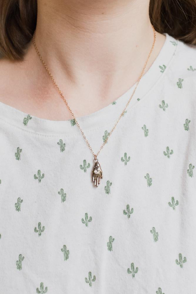 Petite Hand Necklace