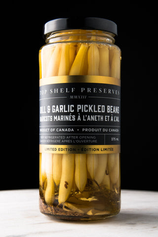 Dill & Garlic Pickled Beans - Local delivery only