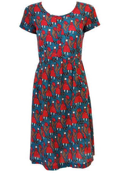 Gretchen Gathered  Dress - Girls Print