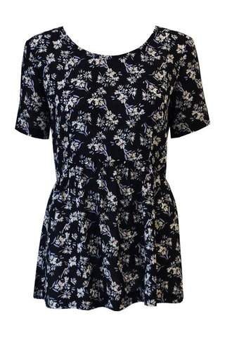 Cremieux Dress - Black Tropical Print
