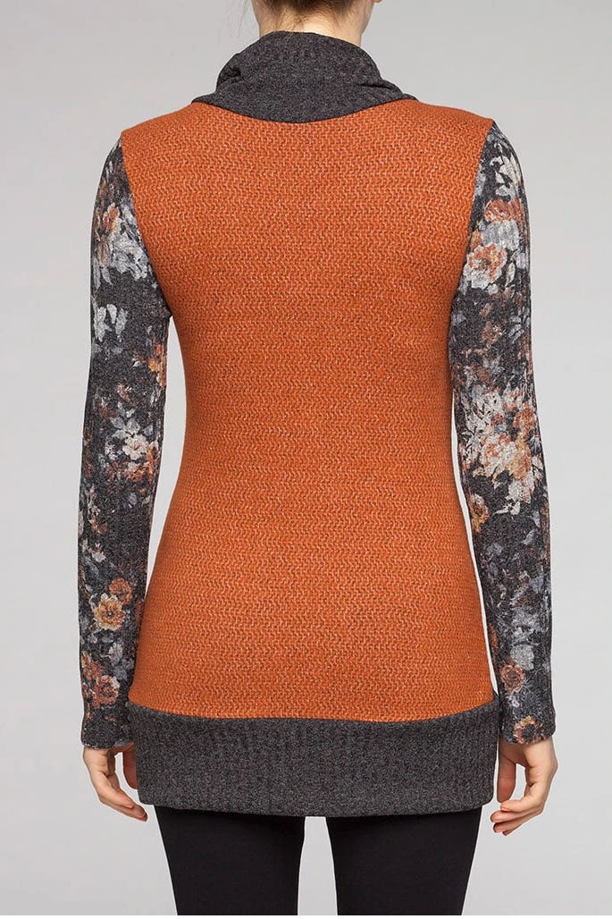 Rust Ezio Tunic, Back view, Kollontai Fall/Winter 2020/2021, Sizes XS - XL