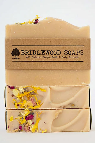 BRIDLEWOOD SOAPS Flower Power Soap Bar (stacked)