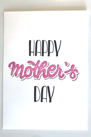 Happy Mother's Day - Letterpress printed Card