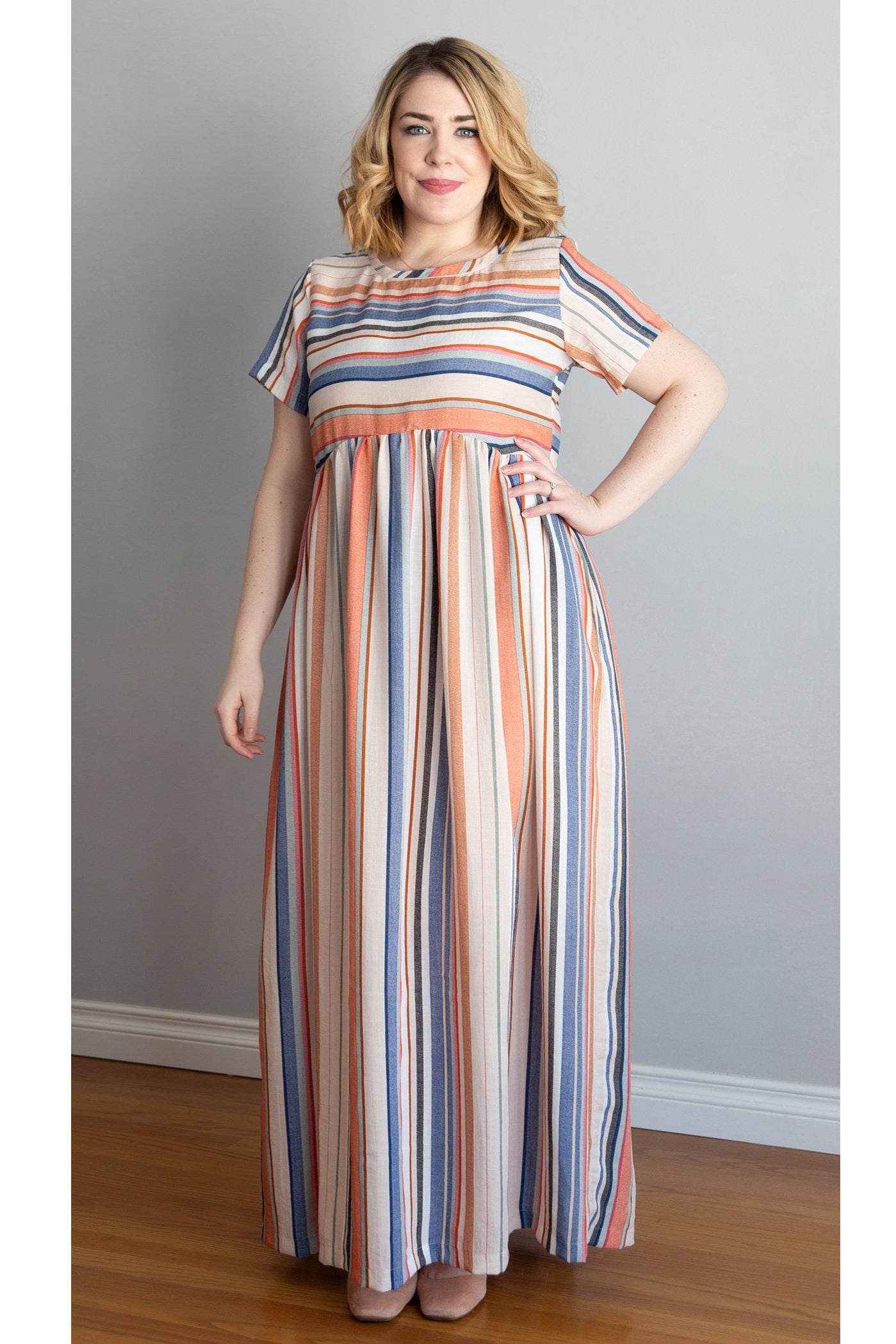 Iris Striped Maxi Dress