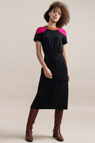 JENNIFER GLASGOW Cherish Dress in Black FW2020/2021 (front view, full-length)