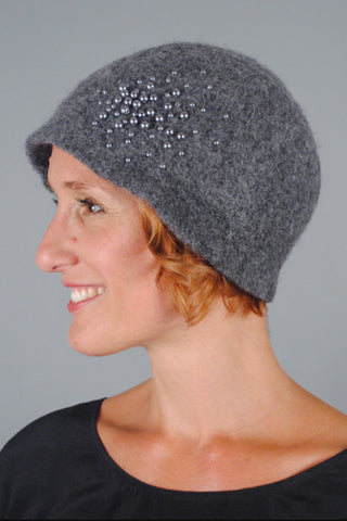 Felted Wool Pom Pom Cloche