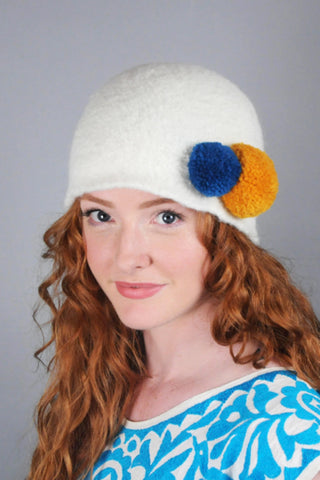 Felted Wool Two-Button Hat