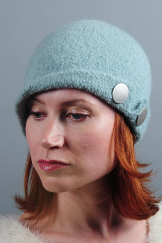 Felted Wool Pearl Hat