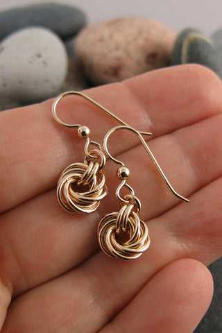Endless Love Knot Earrings • 14K Gold Fill