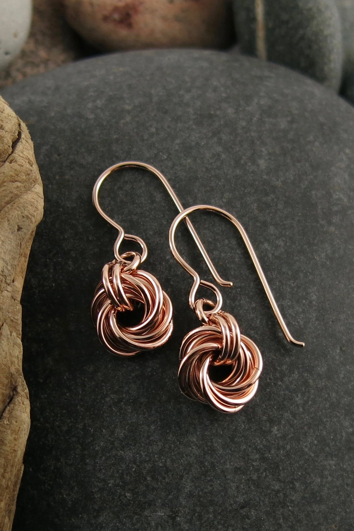 Endless Love Knot Earrings • 14K Rose Gold Fill