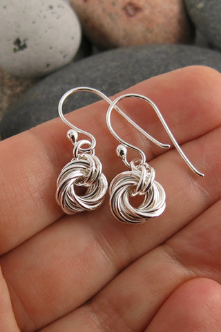 Endless Love Knot Earrings • Sterling Silver
