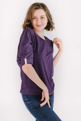 MARIE C Boreal Top in Purple FW2020/2021 (side view)