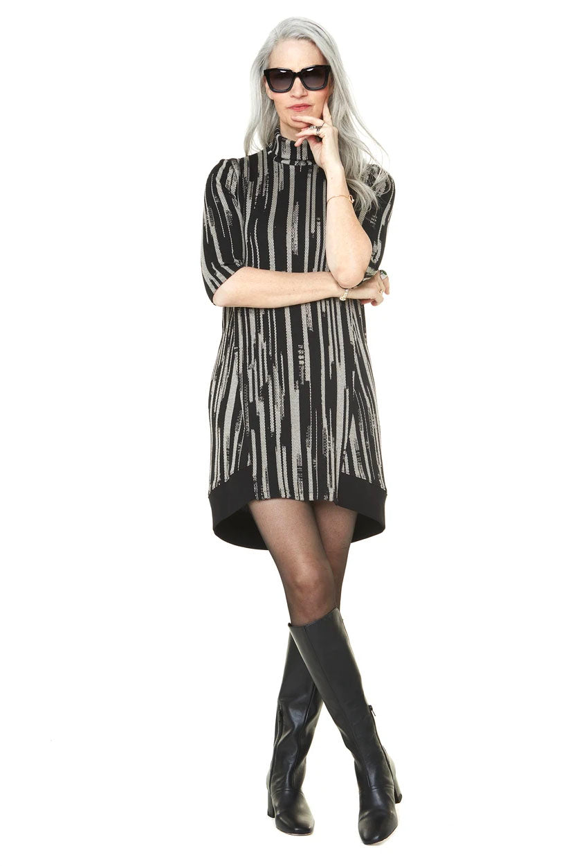 Mathilde Dress Annie 50 FW 20/21  Black and White Front  View