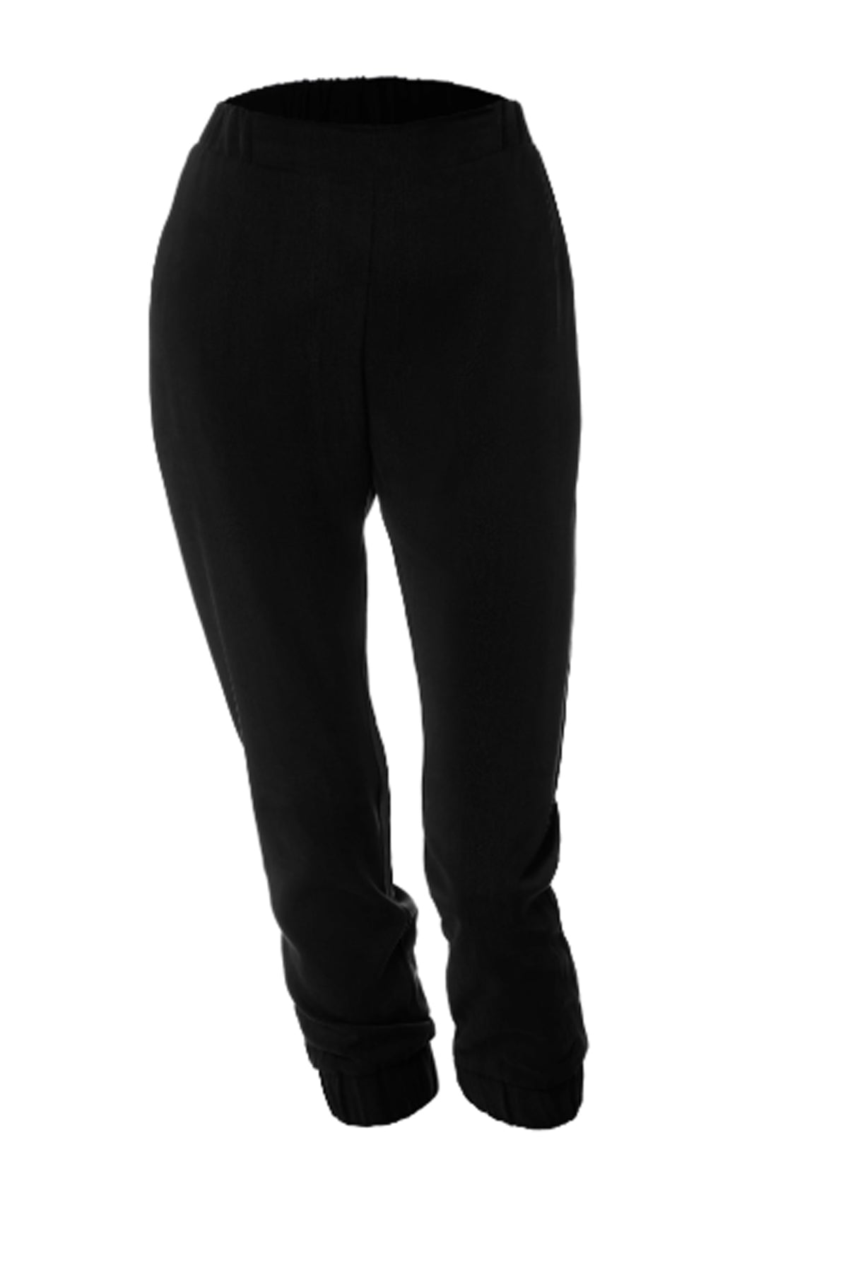 Yanez Pants by Melow par Melissa Bolduc, black, capri pants, elastic at ankles, elastic waist, sizes 4-14, made in Quebec