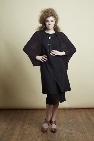 Rebecca cropped cardigan from Melow, Black, Front view