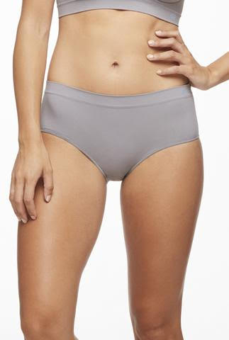 Iris Hipster Undies by Miel, Smoke, microfibre and spandex, antimicrobial, sizes S/M, M/L, L/XL, made in Canada