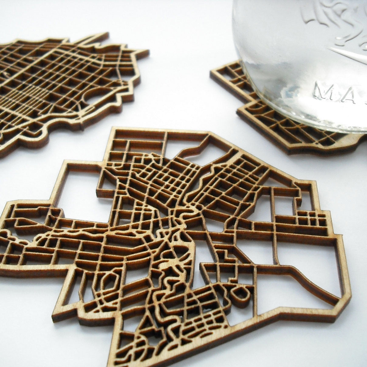 "The National Design Collective Ottawa ""I Kinda Like it Here"" Wood Coaster. Made in Canada"
