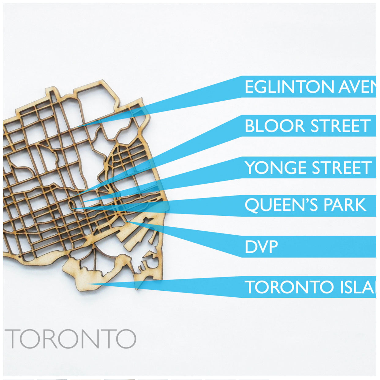 NDC Toronto laser cut wood coaster