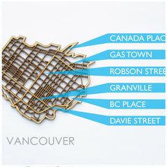 NDC Vancouver laser cut wood coaster