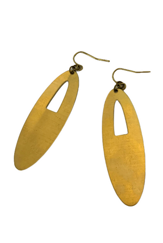 Vudd Brass Earrings