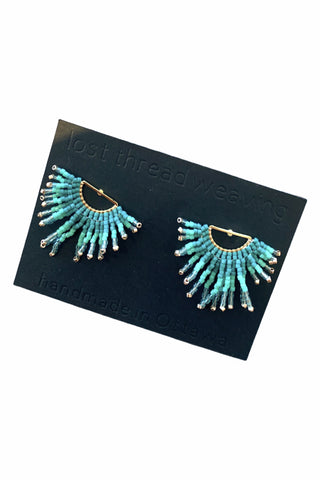 Zelda Beaded Fringe Stud Earrings - MADE TO ORDER