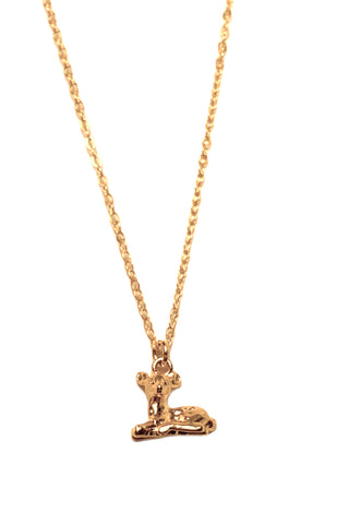 Tiny Deer Gold plated Necklace
