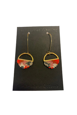 Sally - Abstract round earrings